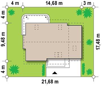 Выгодный в строительстве и эксплуатации дом с дополнительной спальней на первом этаже. план помещений 1