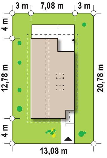 Энергоэффективный и удобный дом с современными элементами отделки фасадов. Подходит для узкого участка. план помещений 1