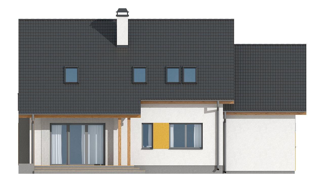 Версия проекта Z92 c гаражом, пристроенным слева и дополнительным помещением над ним 15
