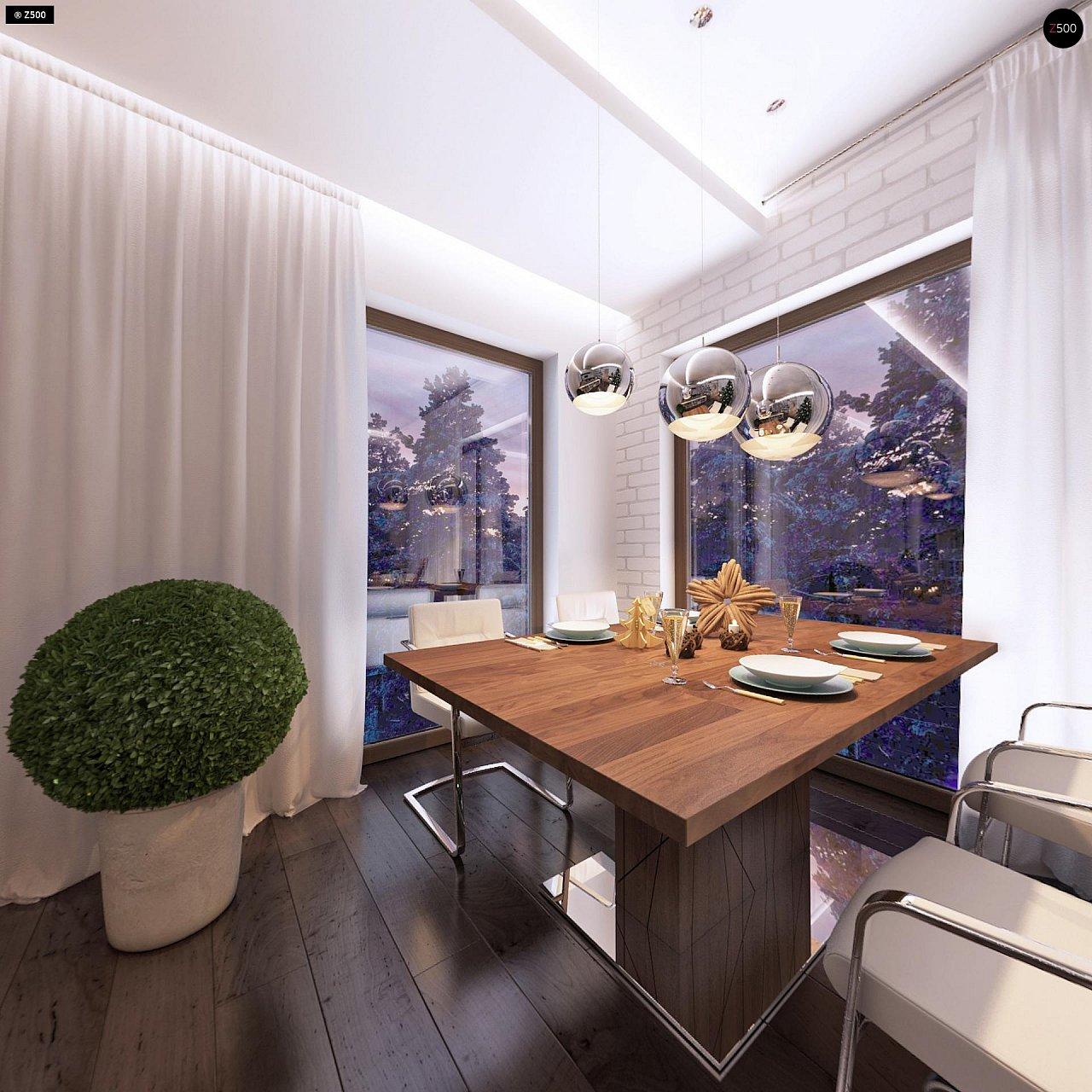 Дом характерного современного дизайна с гаражом и кабинетом на первом этаже. - фото 27
