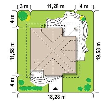Версия проекта Z18 c кирпичной облицовкой фасадов. план помещений 1