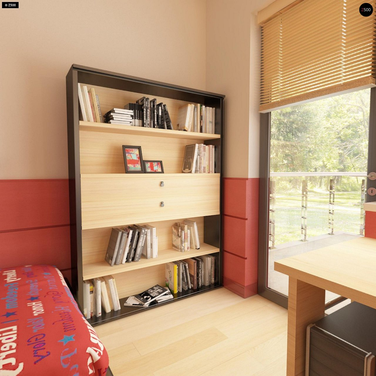Вариант двухэтажного дома Zx24a с плитами перекрытия 13