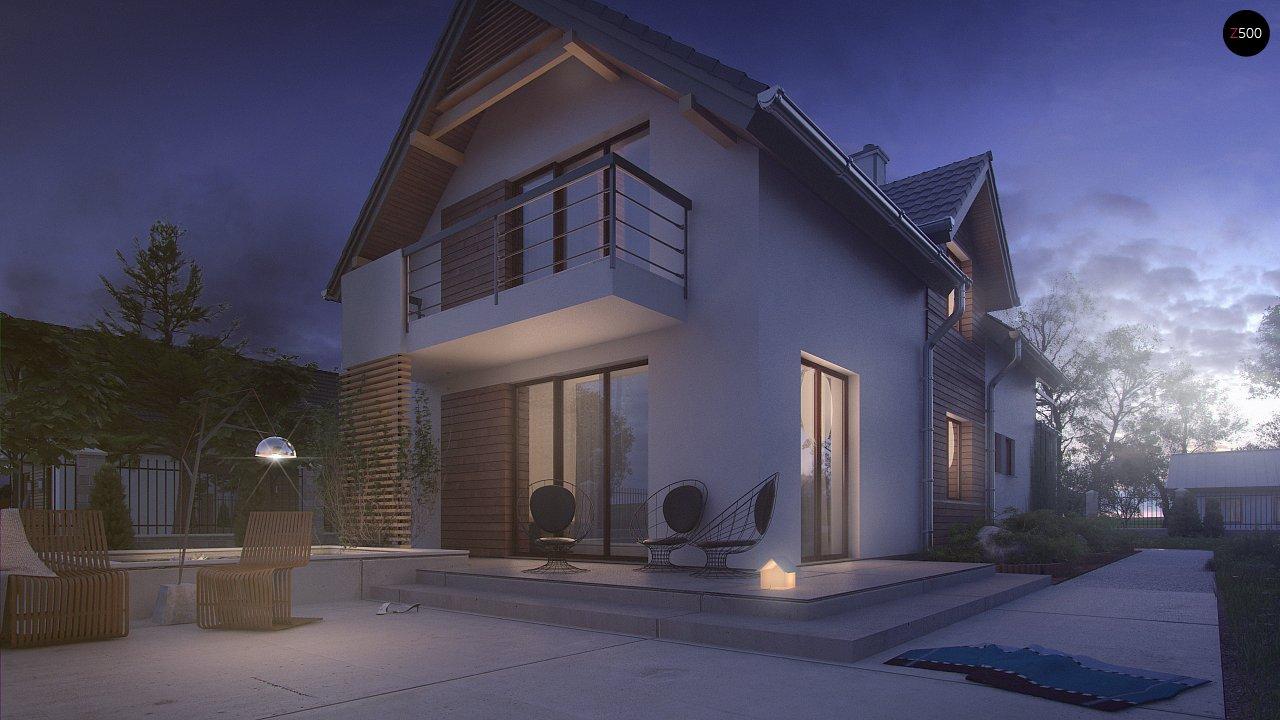 Функциональный и привлекательный дом с гаражом для узкого участка. 5