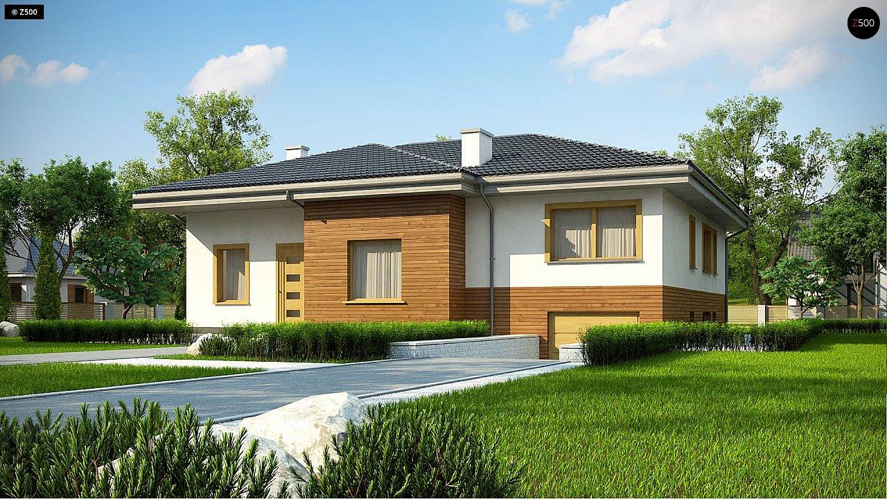 Красивый и комфортный однэтажный дом с цоколем 1