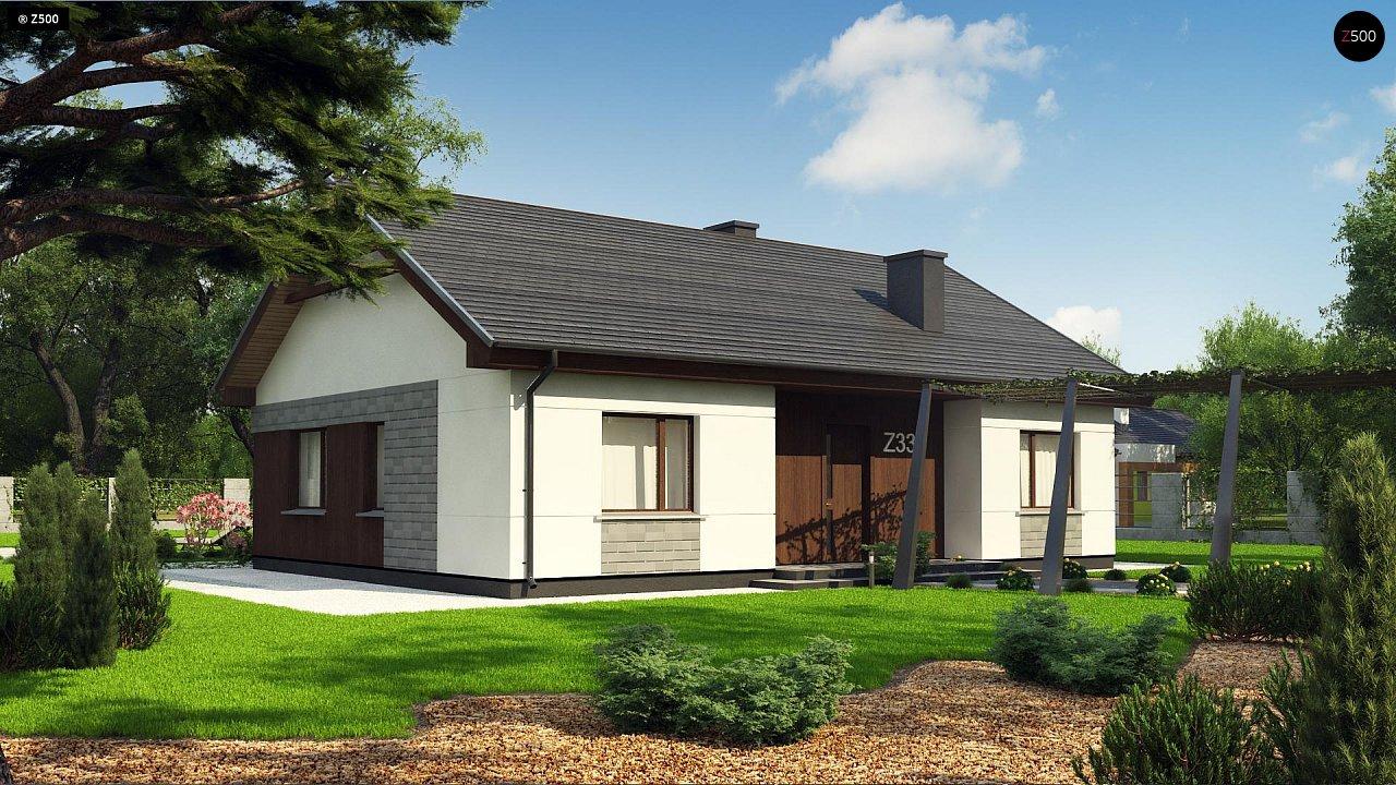 Проект уютного одноэтажного дома с двускатной кровлей. - фото 5