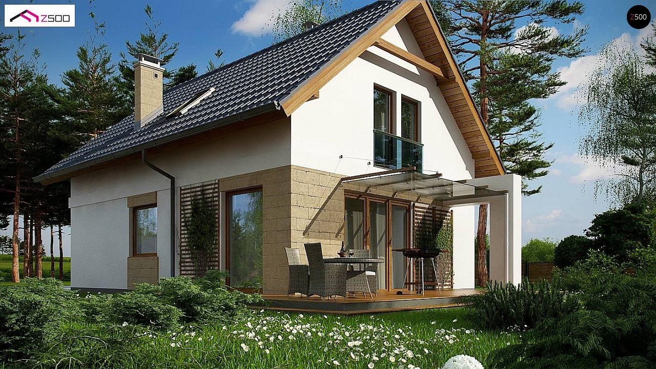 Проект мансардного дома с 4 спальнями и кабинетом. - фото 1