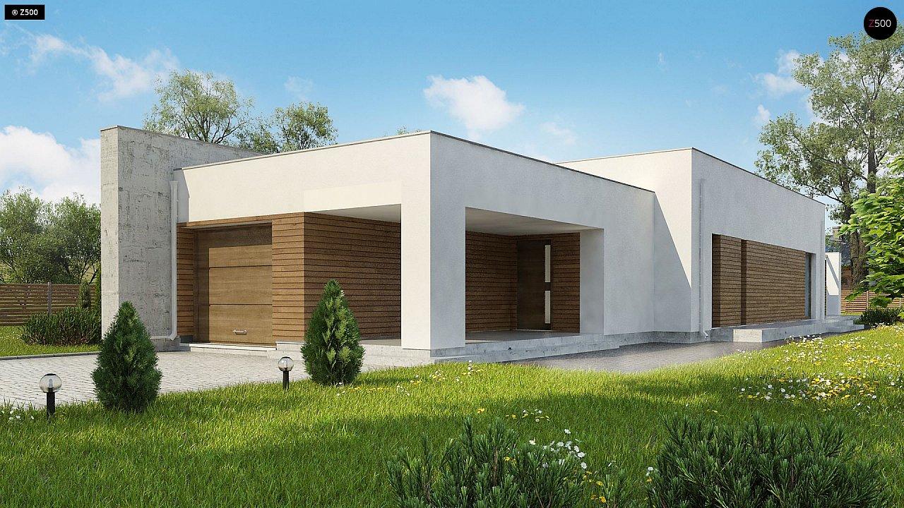 Комфортный одноэтажный дом для узкого участка. 3