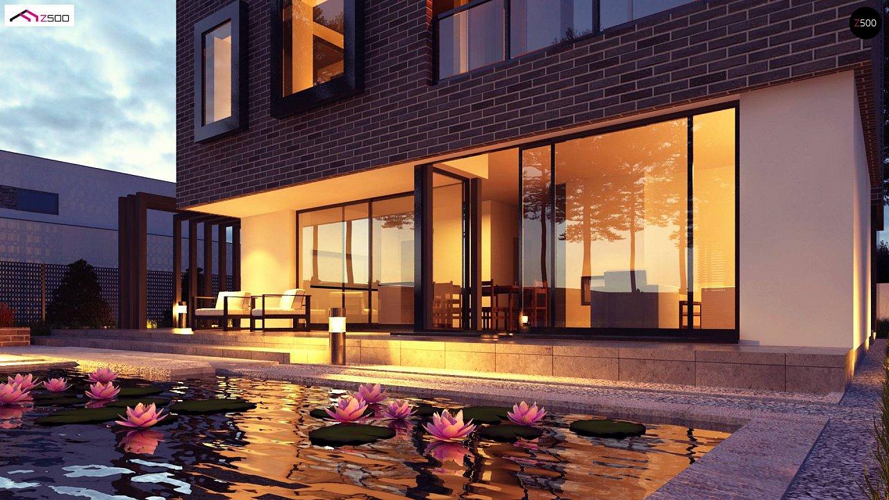 Проект двухэтажного дома с современным фасадом и удобным интерьером. 5
