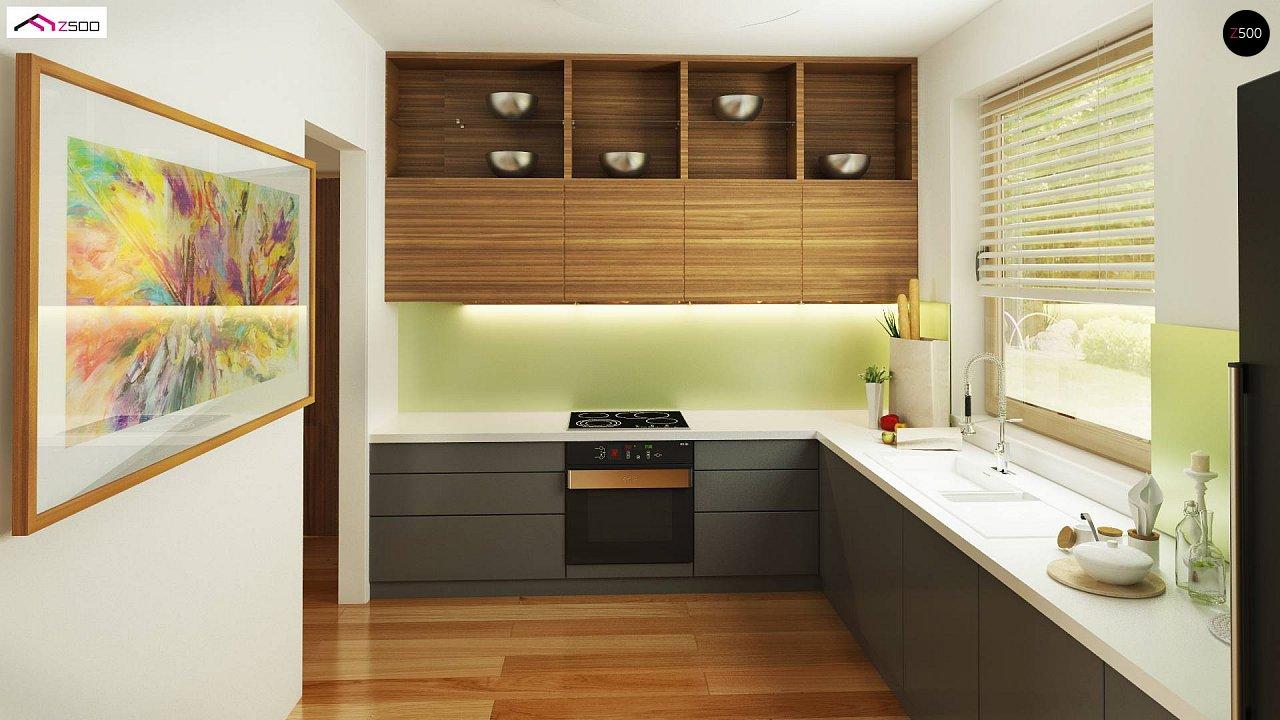 Дом, выполненный в традиционном стиле с одноуровневой планировкой. 13