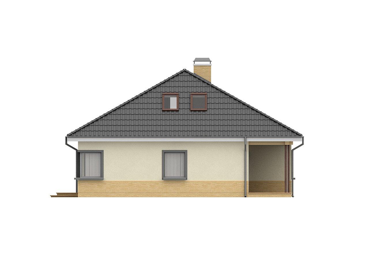 Традиционный дом с мансардой, с большим углом наклона крыши. - фото 6