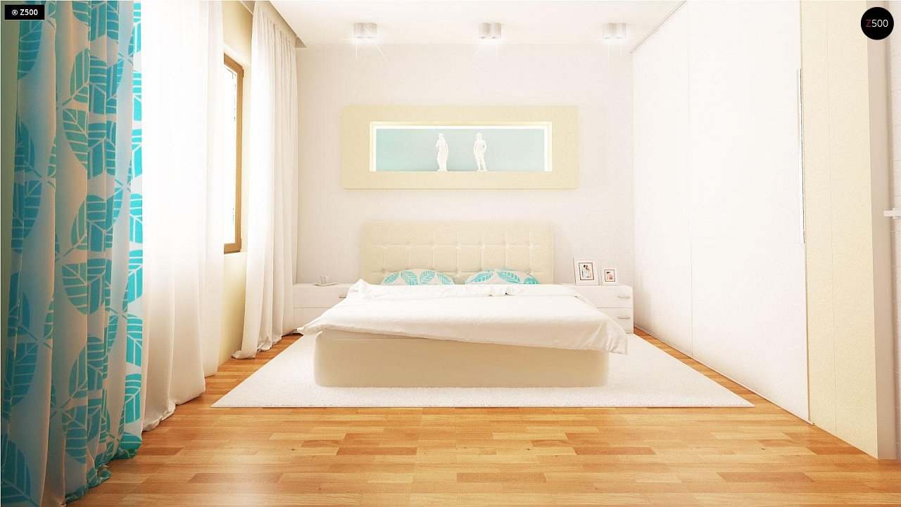 Проект традиционного одноэтажного дома с возможностью обустройства мансарды. 13