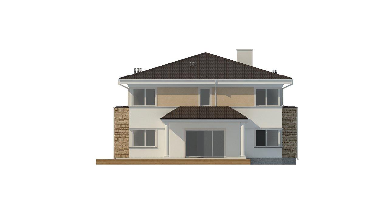 Проект комфортной двухэтажной виллы в традиционном стиле. 8
