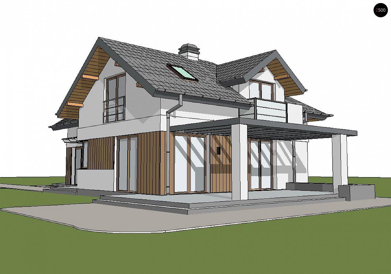 Версия проекта Z150 с гаражом вместо дополнительного помещения. 2