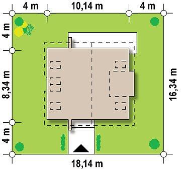 Дом традиционной формы с современными элементами в архитектуре. Уютный и функциональный интерьер. план помещений 1