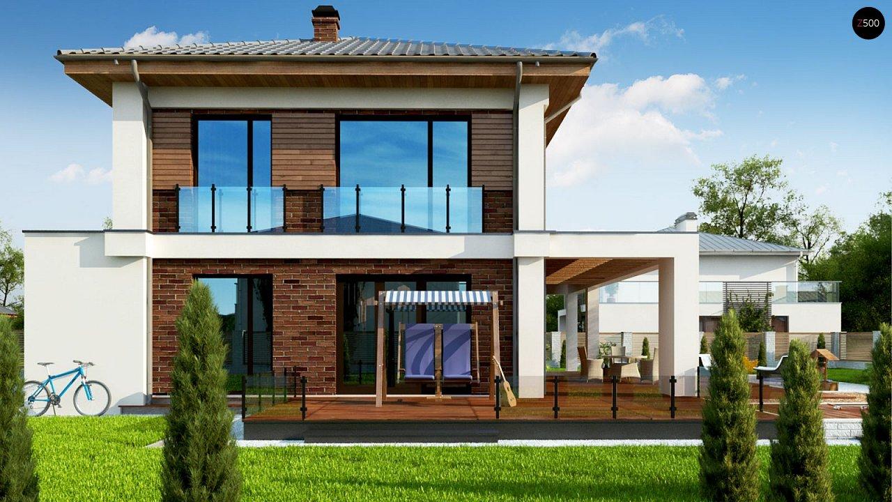 Двухэтажный коттедж с уютной террасой и балконом 4