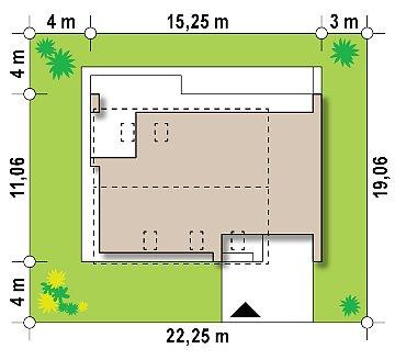Проект комфортного дома в современном европейском стиле. план помещений 1