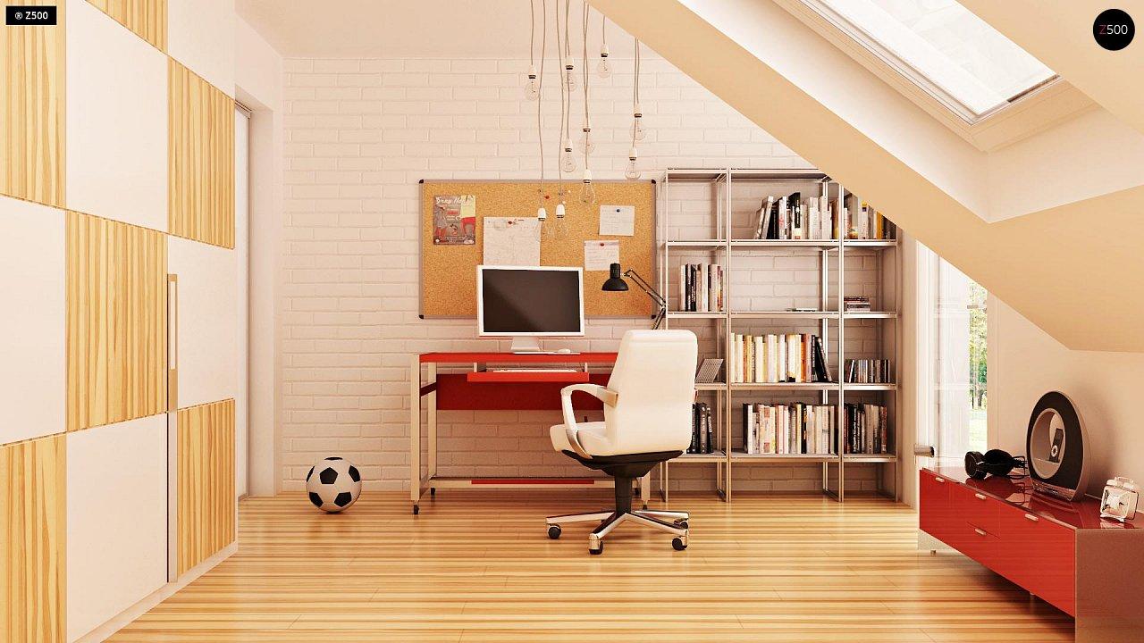 Современный дом с уютным и функциональным интерьером. Интересное сочетание двускатной крыши и кубических форм. - фото 12