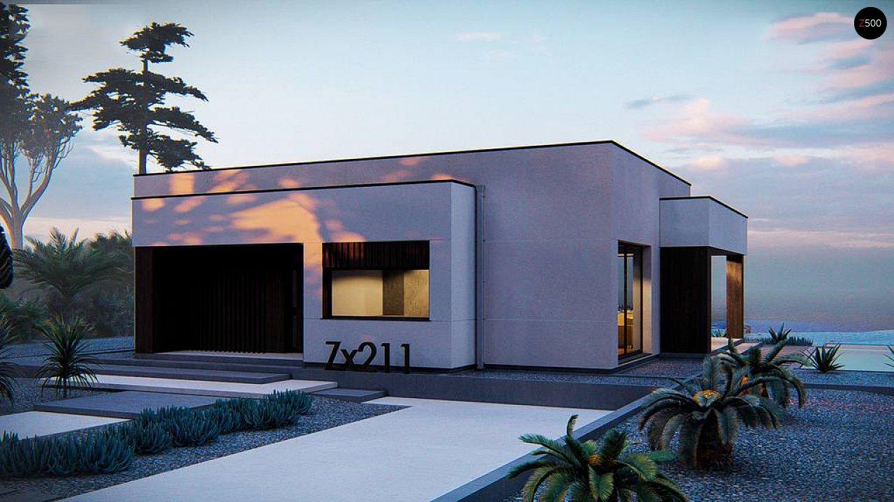 Современный одноэтажный дом с плоской крышей 1