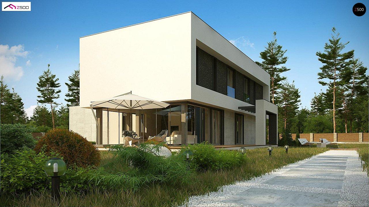 Современный двухэтажный дом с просторной террасой и гаражом на две машины. - фото 5