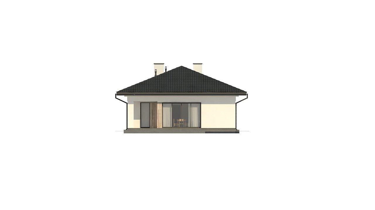 Дом для узкого участка с 4-х скатной крышей - фото 9
