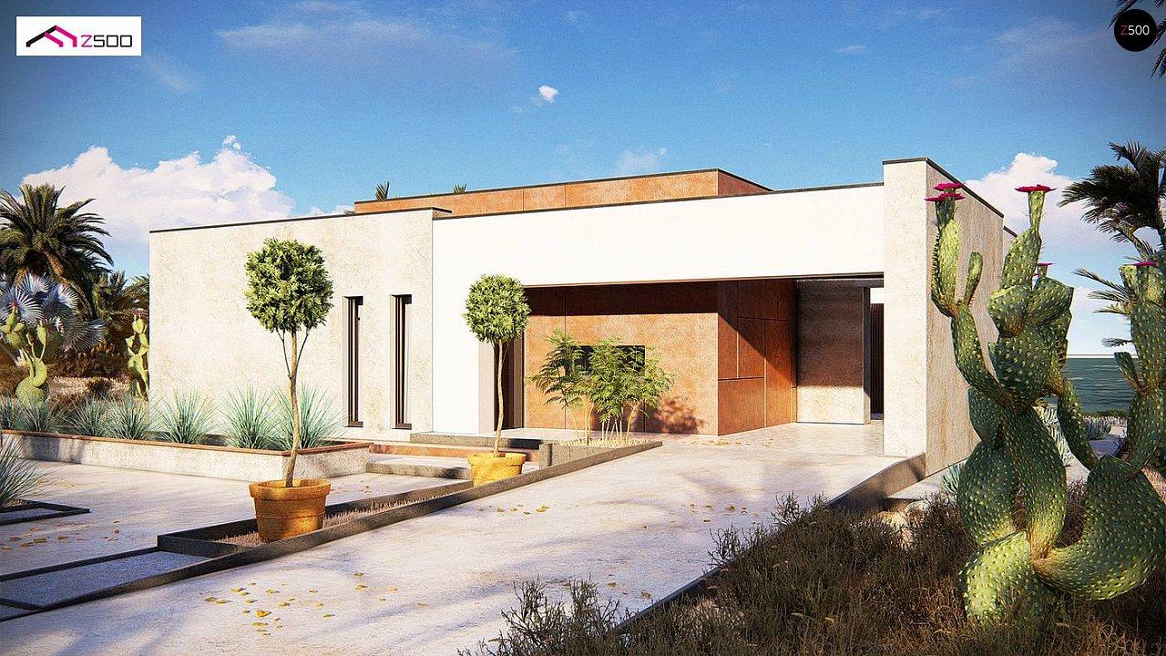 Современный одноэтажный дом небольшого размера. - фото 1