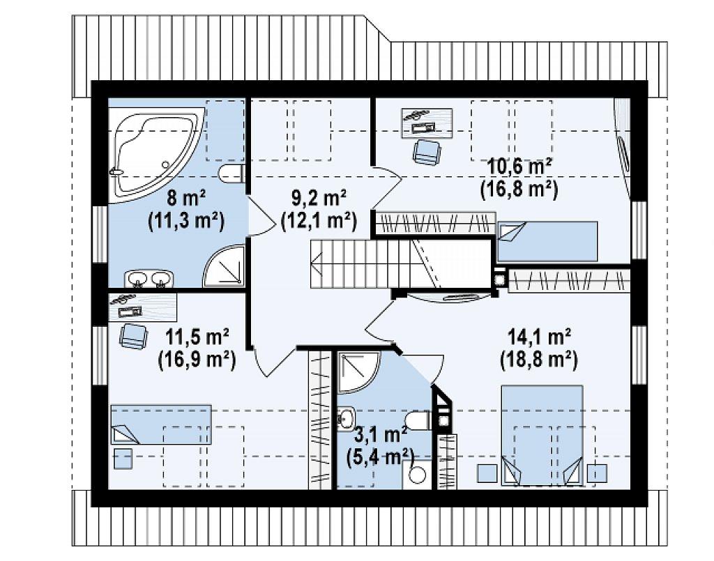 Проект комфортного и выгодного дома. план помещений 2