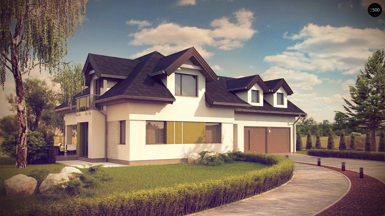 Комфортабельный дом с интересными фасадными окнами, с гаражом на два авто. 3