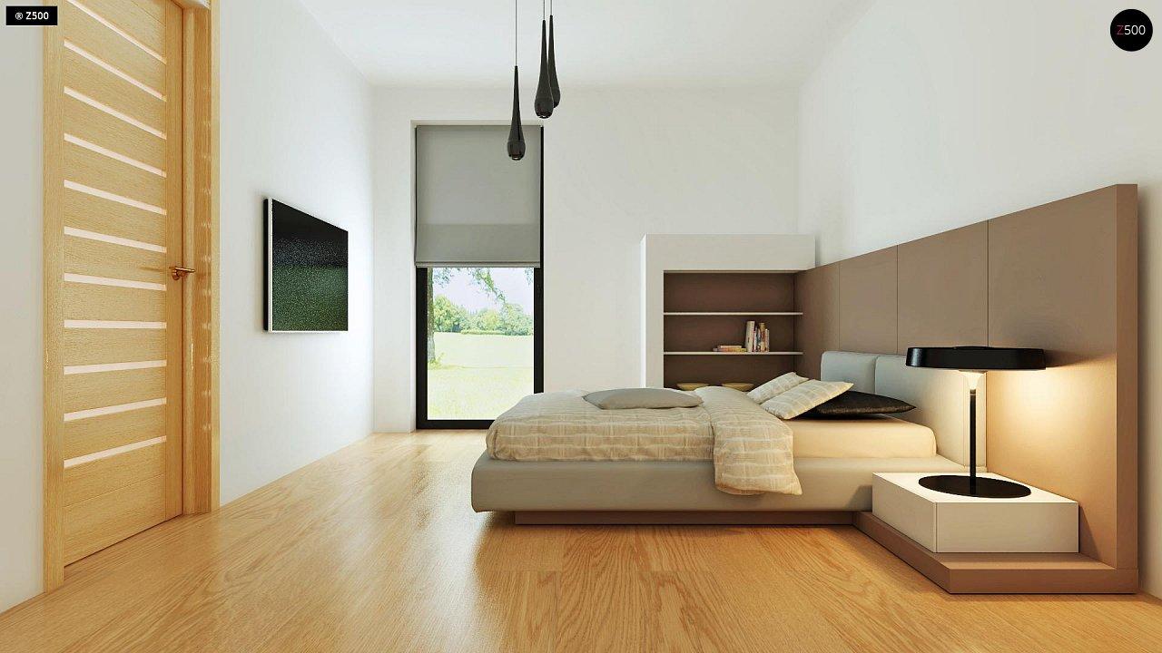 Современный комфортабельный одноэтажный дом с функциональным интерьером и уютной террасой. 15