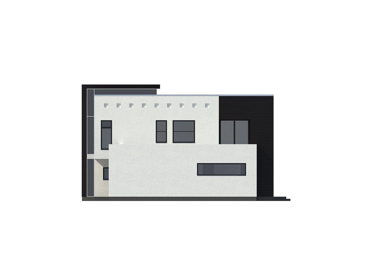Современный дом кубической формы с террасой над гаражом. - фото 3