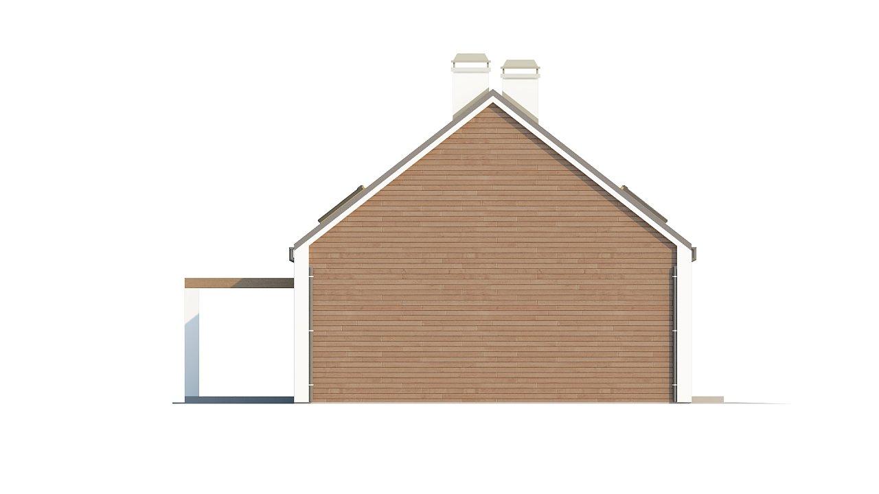 Комфортный дом с гаражом простого аккуратного дизайна. 6