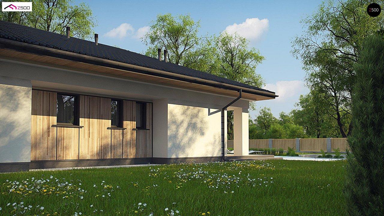 Дом для узкого участка с 4-х скатной крышей - фото 3