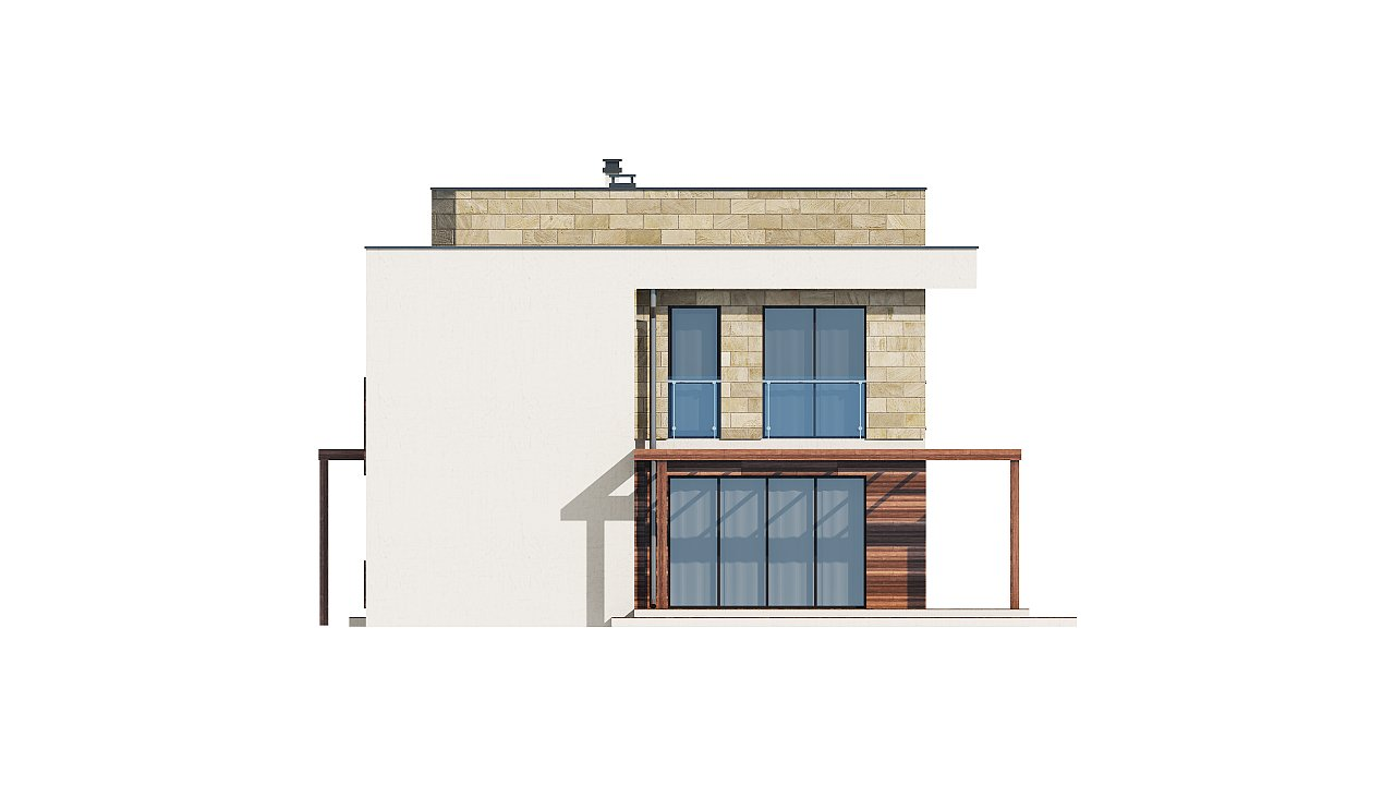 Добротный особняк модернистского характера с большой площадью остекления. 25