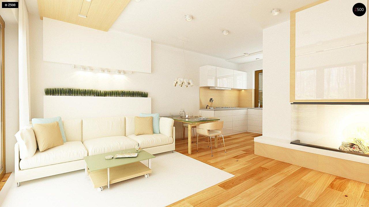 Простой и недорогой в строительстве одноэтажный дом небольшой площади. 6