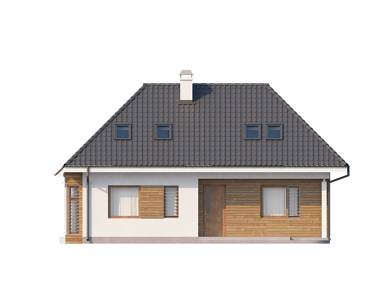 Проект функционального дома с дополнительной небольшой ночной зоной на первом этаже. - фото 3