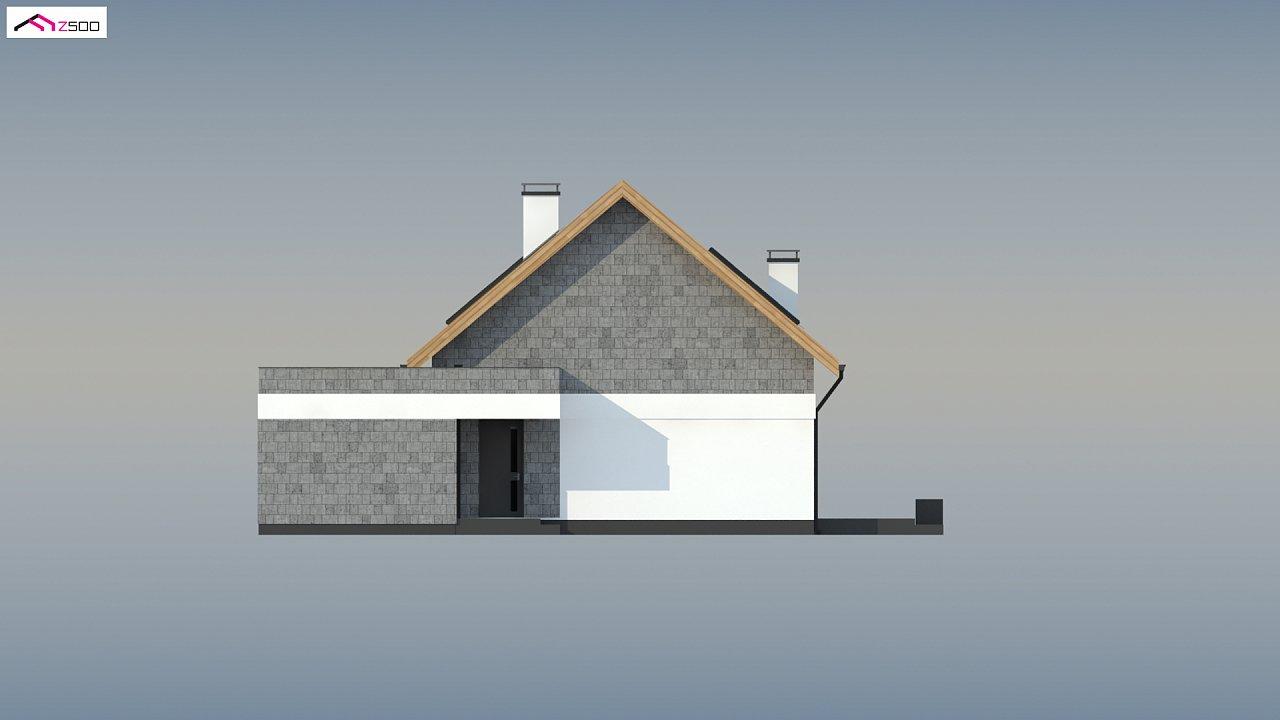 Мансардный дом с гаражом, расположенным с фронтальной стороны фасада - фото 10