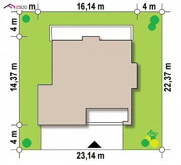 Проект просторного современного коттеджа с 5 спальнями. план помещений 1