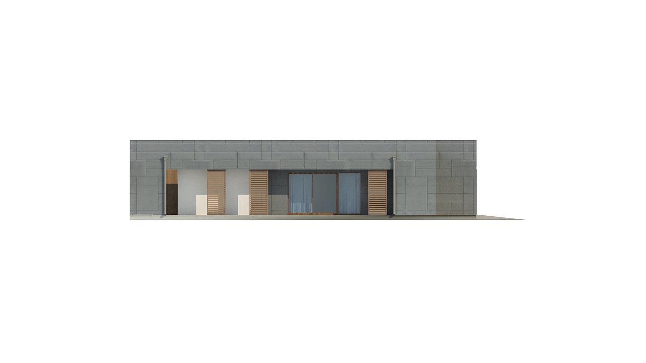 Современный односемейный одноэтажный дом с плоской крышей - фото 12