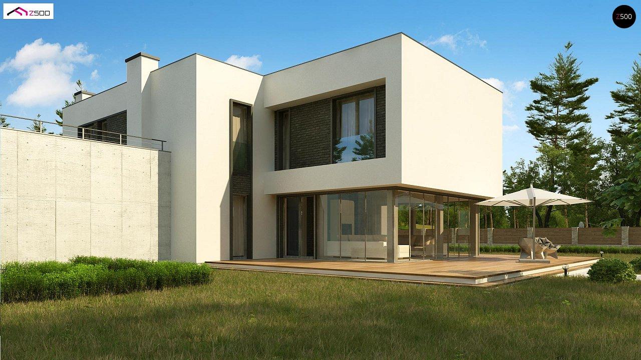 Современный двухэтажный дом с просторной террасой и гаражом на две машины. - фото 2
