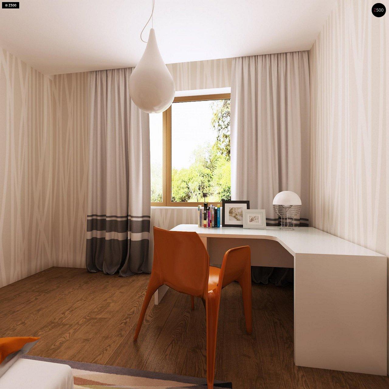 Функциональный одноэтажный дом с современными элементами отделки фасадов. - фото 17