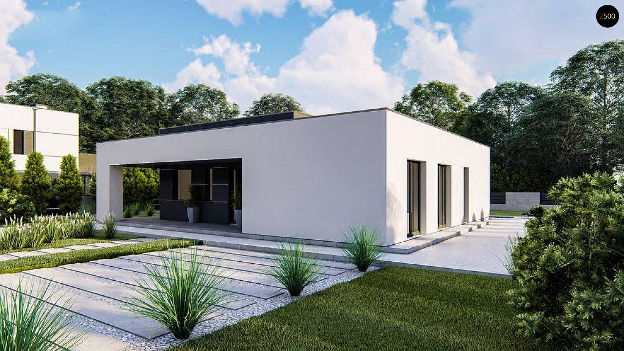 Одноэтажный, современный дом с плоской крышей 6