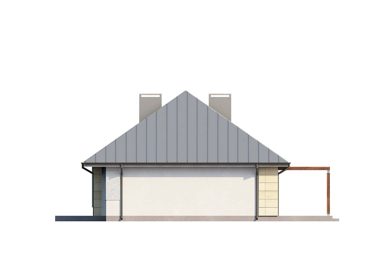 Одноэтажный дом с возможностью обустройства чердачного помещения, оптимальный для южного въезда на участок. 16