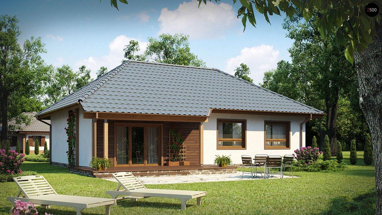 Проект одноэтажного классического дома адаптированного для каркасной технологии строительства. - фото 2