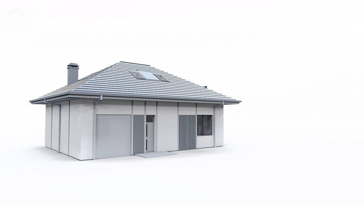 Дом с мансардой, четыре комнаты и гараж 6