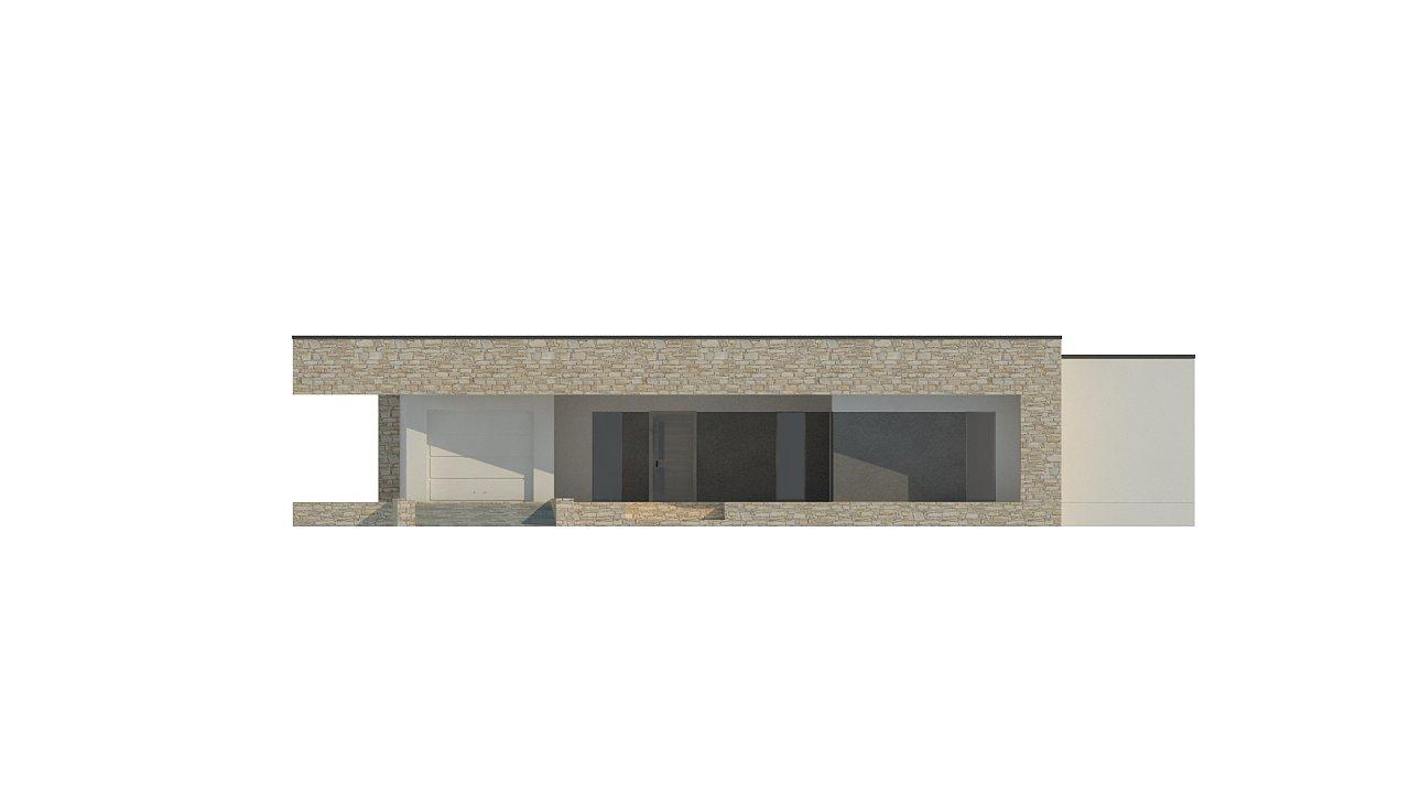 Одноэтажный коттедж с гаражом на одну машину и уютной террасой 11