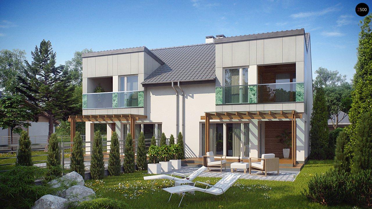 Компактные дома близнецы в современном стиле с уютным интерьером. 2