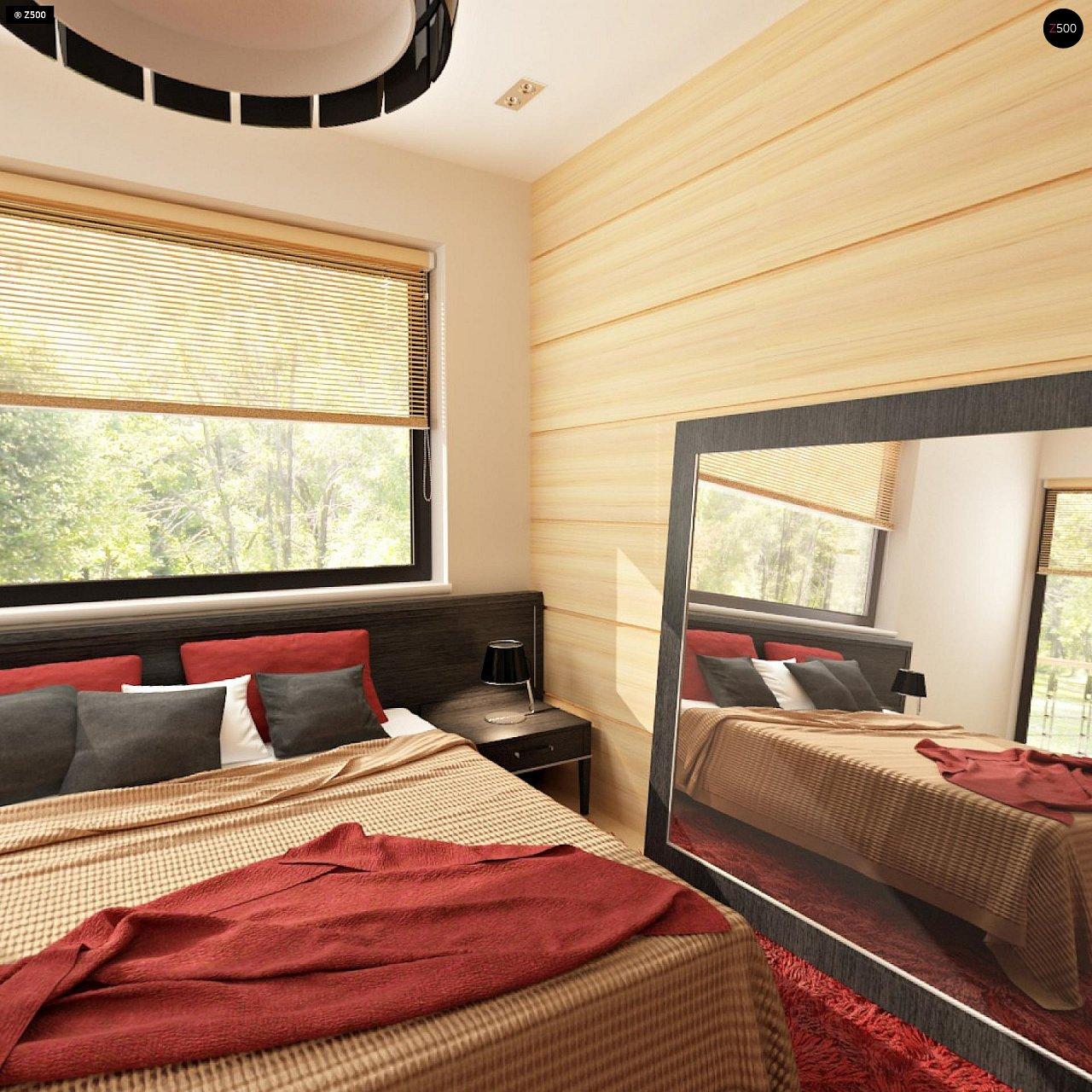 Версия двухэтажного дома Zx24 c увеличенным гаражом для двух машин 15