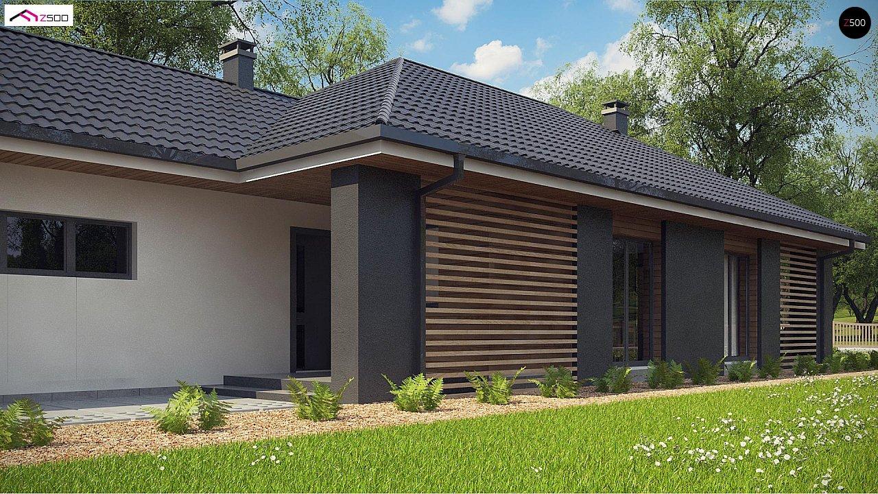Одноэтажный дом в современном стиле с двойным гаражом 4