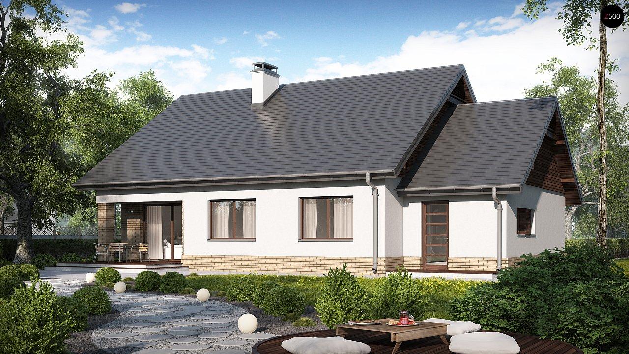 Проект традиционного одноэтажного дома с возможностью обустройства мансарды. 2