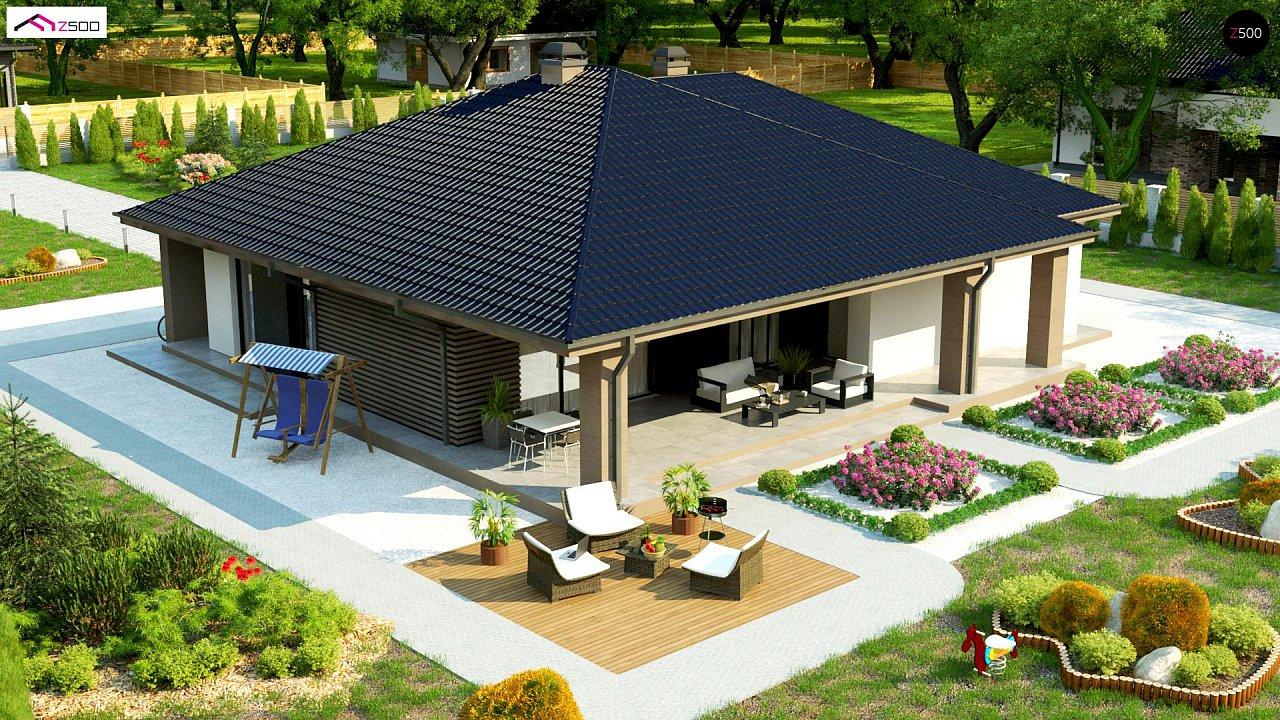 Компактный одноэтажный дом стильного дизайна 6