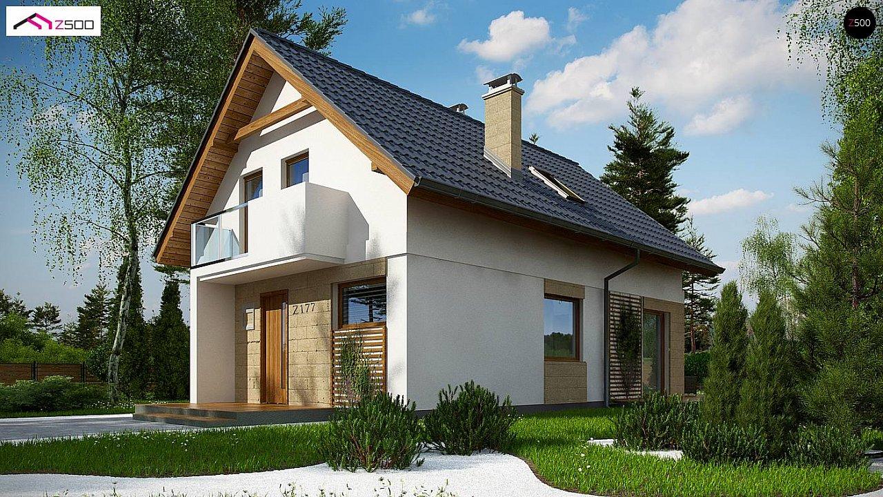Проект мансардного дома с 4 спальнями и кабинетом. - фото 2